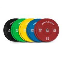 Capital Sports Nipton Full Set, kotúčové závažia, 5 párov, 5 - 25 kg