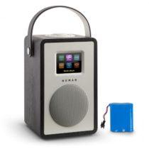 Numan Mini Two Design, internetové rádio, WiFi, DLNA, Bluetooth, FM, čierna vrátane nabíjacej batéri...