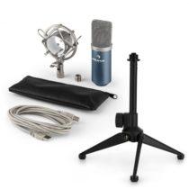 Auna MIC-900BL V1, USB mikrofónová sada, modrý kondenzátorový mikrofón + stolný statív