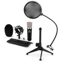 Auna CM003 mikrofónová sada V2 kondenzátorový mikrofón XLR, mikrofónový stojan, pop filter