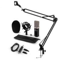 Auna CM003 mikrofónová sada V3, kondenzátorový mikrofón, USB-konvertor, mikrofónové rameno, čierna f...
