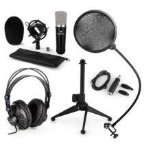Auna CM003 mikrofónová sada V2, kondenzátorový mikrofón, USB-konvertor, slúchadlá, mikrofónový stoja...
