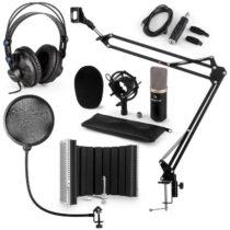 Auna CM003 mikrofónová sada V5, čierna, kondenzátorový mikrofón, USB konvertor, slúchadlá, mikrofóno...
