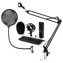 Auna CM001B mikrofónová sada V4, čierna, kondenzátorový mikrofón, mikrofónové rameno, pop filter