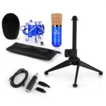 Auna CM001BG mikrofónová sada V1, kondenzátorový mikrofón, USB-adaptér, mikrofónový stojan, modrá fa...