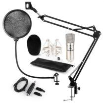 Auna CM001S mikrofónová sada V4 kondenzátorový mikrofón, USB adaptér, mikrofónové rameno, pop filter...