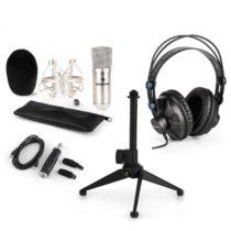 Auna CM001S V1, mikrofónová sada, slúchadlá + kondenzátorový mikrofón sUSB adaptérom + statív, stri...