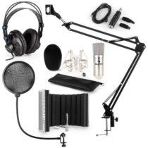 Auna CM001S mikrofónová sada V5 slúchadlá, USB adaptér, mikrofónové rameno, pop filter, panel, strie...