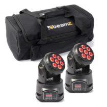 Beamz sada svetelných efektov 2x MHL-74 Moving-Head Mini Wash & 1x Soft Case