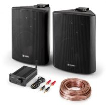 Skytec Bluetooth Play BK, PA HiFi set, dva reproduktory, mini zosilňovač sbluetooth, kábel