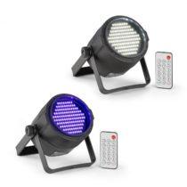 Beamz PLS15 sada V6, LED stroboskop PLS20, UV Par LED reflektor