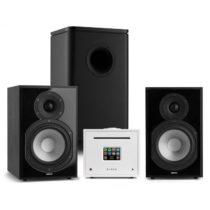 Numan Unison Reference 802 Edition, stereo systém, zosilňovač, reproduktory, čierna/biela