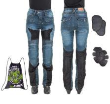 Dámske moto jeansy W-TEC Bolftyna