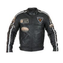 Pánská kožená moto bunda W-TEC Sheawen Black