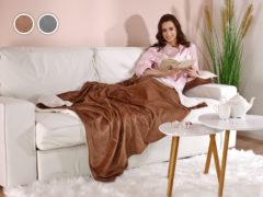 Prikrývka Silky Soft Dormeo, 140x160 cm, hnedá