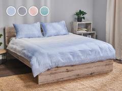 Posteľné obliečky Dormeo Urban, 140x200 cm, modrá